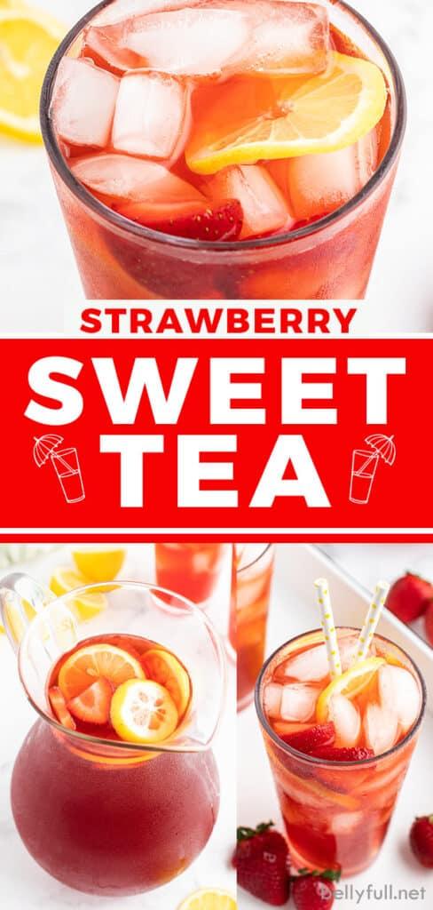 pin for strawberry sweet tea recipe