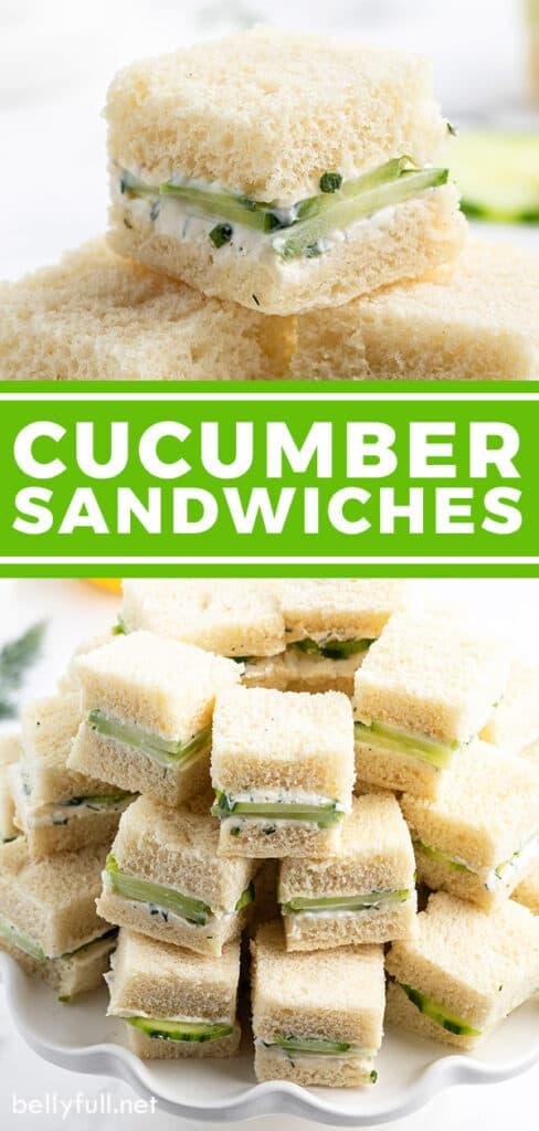 pin for cucumber sandwiches recipe