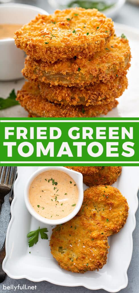 pin for fried green tomatoes recipe