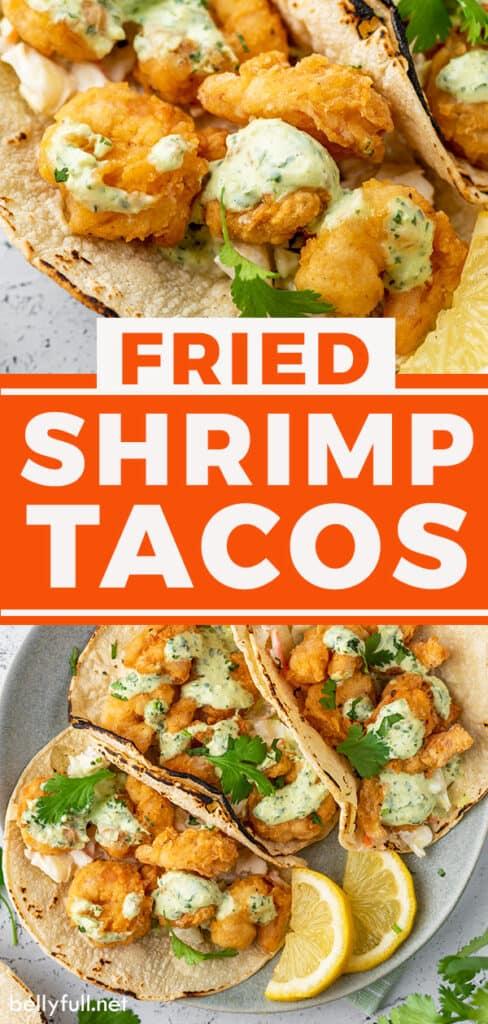 pin for fried shrimp tacos