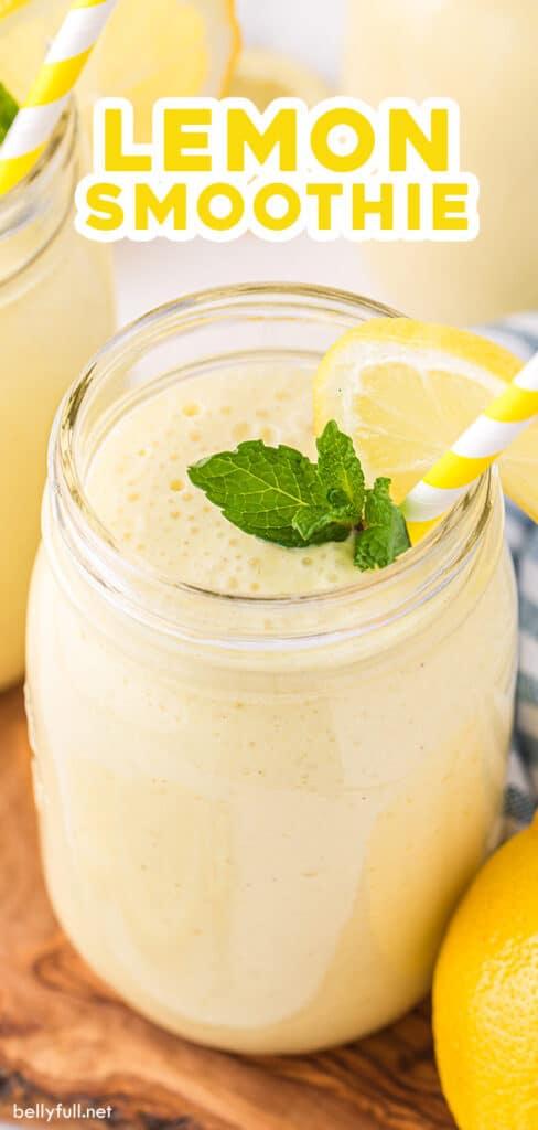 pin for lemon smoothie recipe