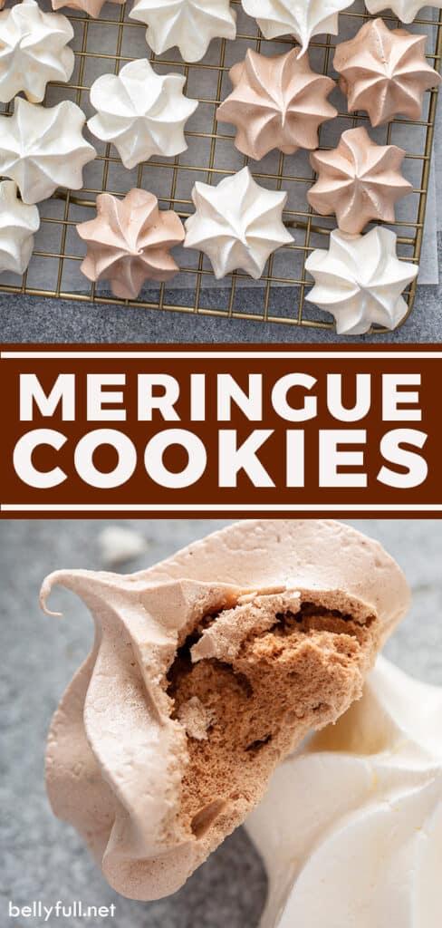 pin for meringue cookies recipe