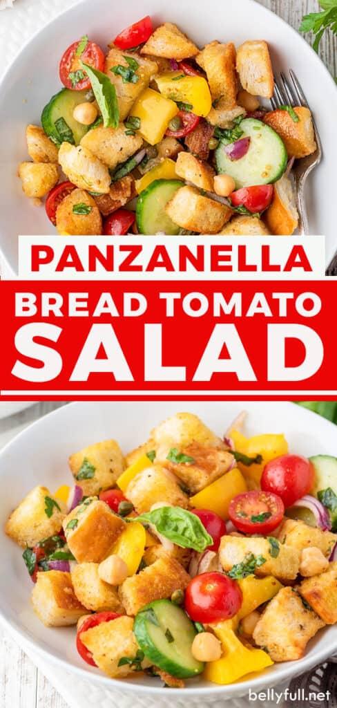 pin for panzanella salad recipe