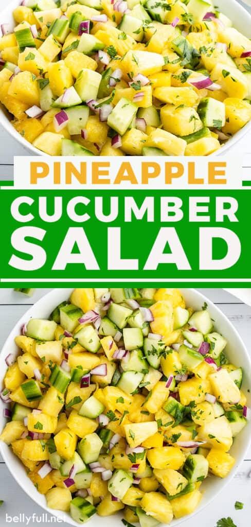 pin for pineapple cucumber salad recipe