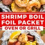 pin for shrimp boil foil packet dinner recipe