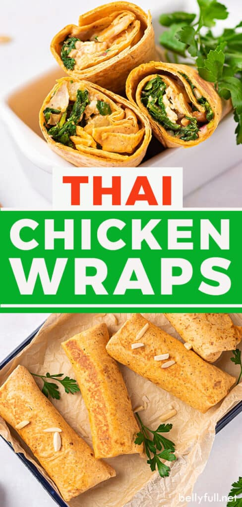 pin for Thai Chicken Wraps recipe