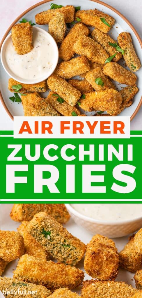 pin for air fryer zucchini fries recipe