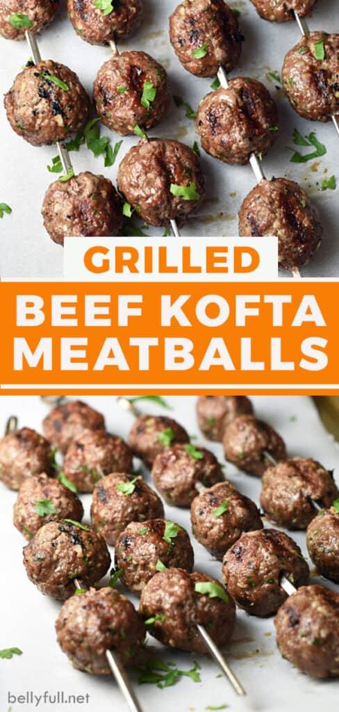 pin for beef kofta kebobs recipe