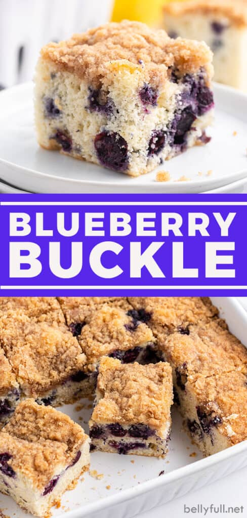 pin for Blueberry Buckle Cake Recipe