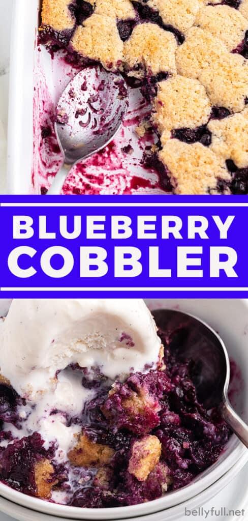 pin for blueberry cobbler recipe
