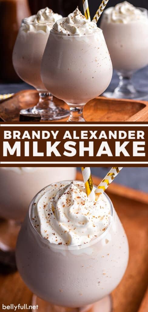 pin for Brandy Alexander Milkshake recipe