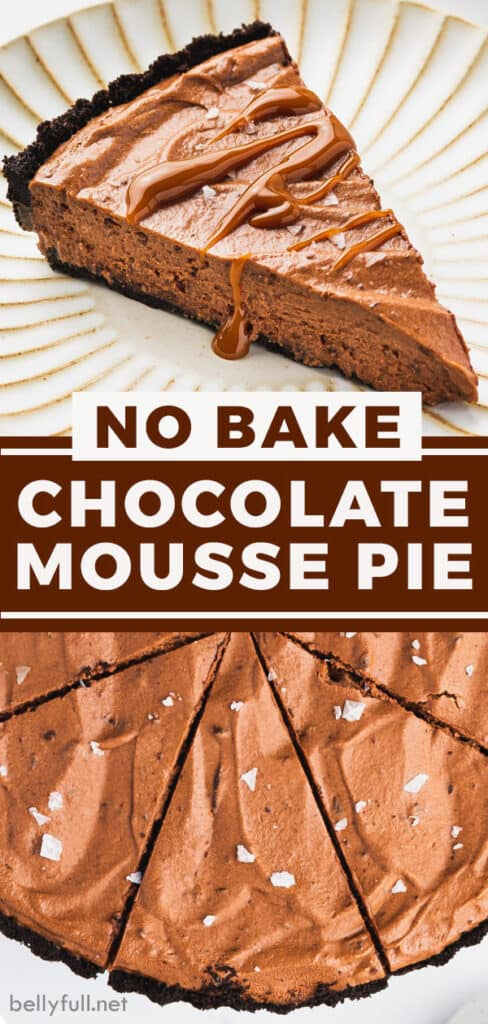 pin for chocolate mousse pie recipe