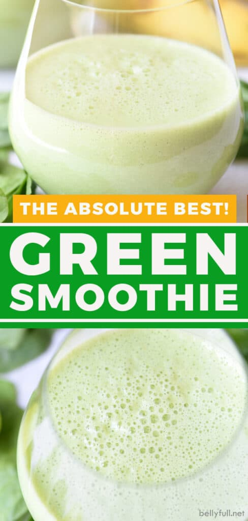 pin for green smoothie recipe