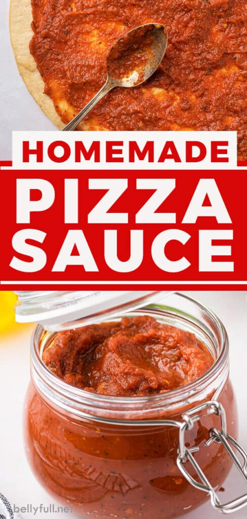 pin for homemade pizza sauce recipe
