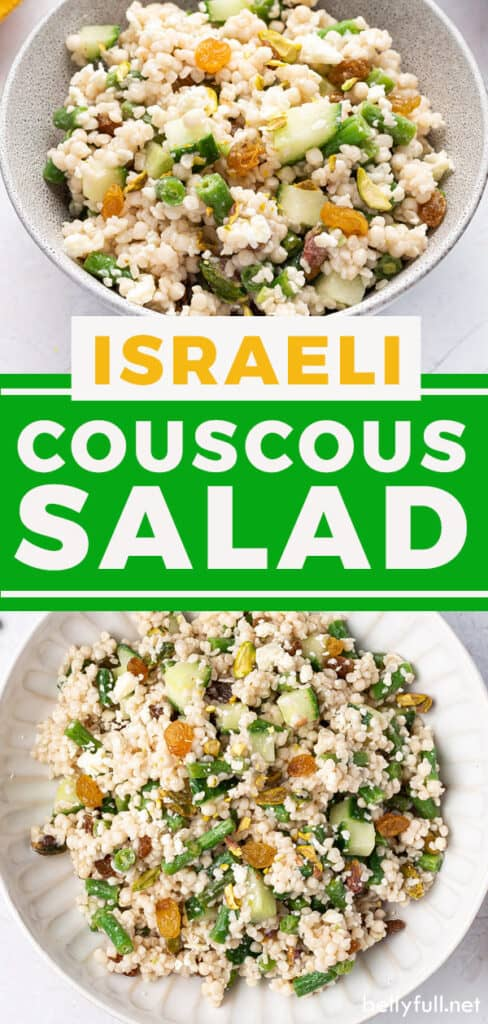 Pin for Israeli Couscous Salad recipe