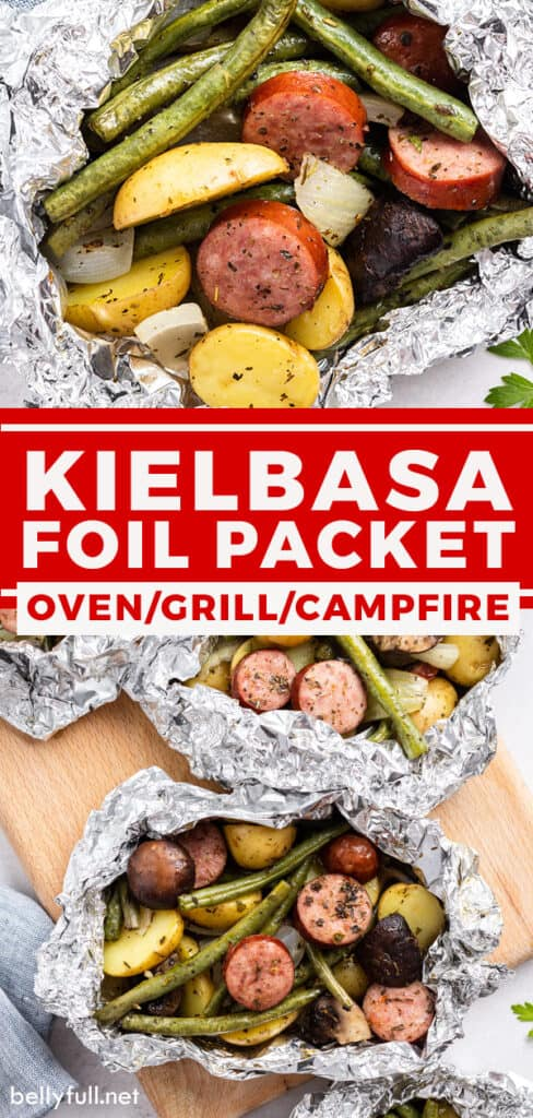 pin for Kielbasa and Vegetable Foil Packets recipe
