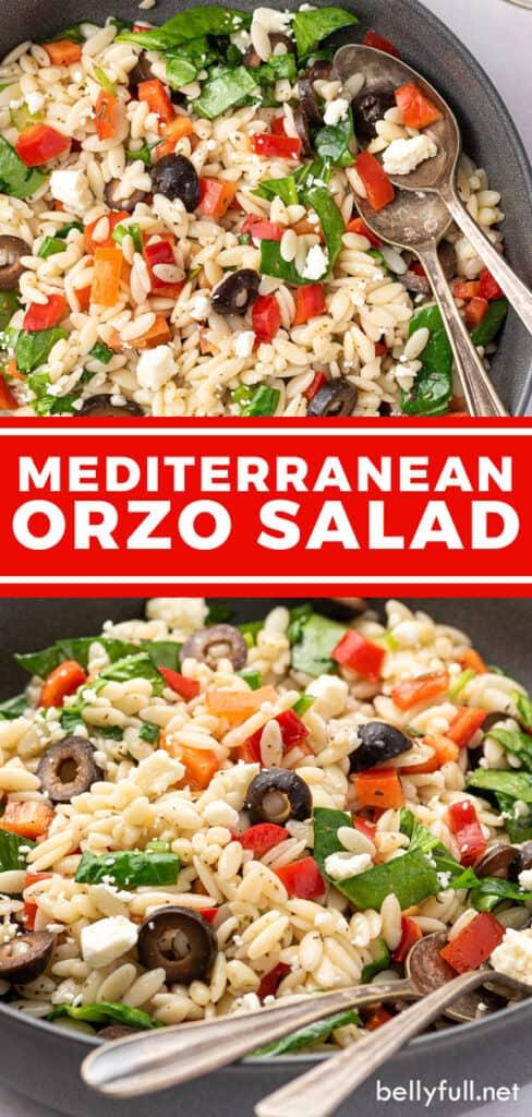 Pin for Greek Orzo Salad