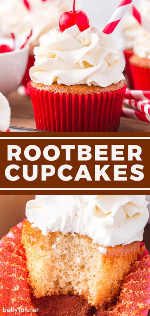 pin for root beer cupcakes recipe