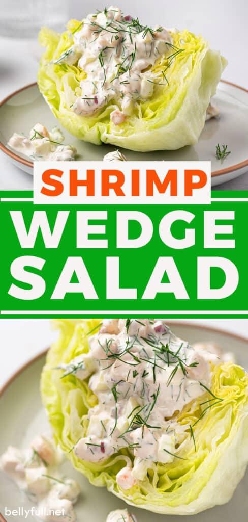 pin for shrimp wedge salad recipe