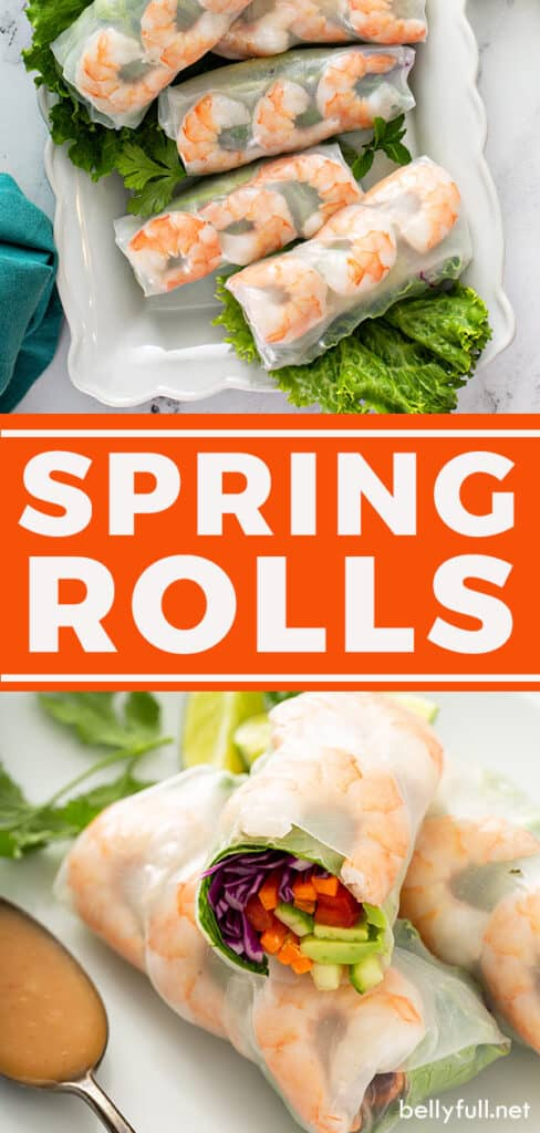 pin for spring rolls recipe