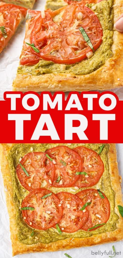pin for tomato tart recipe