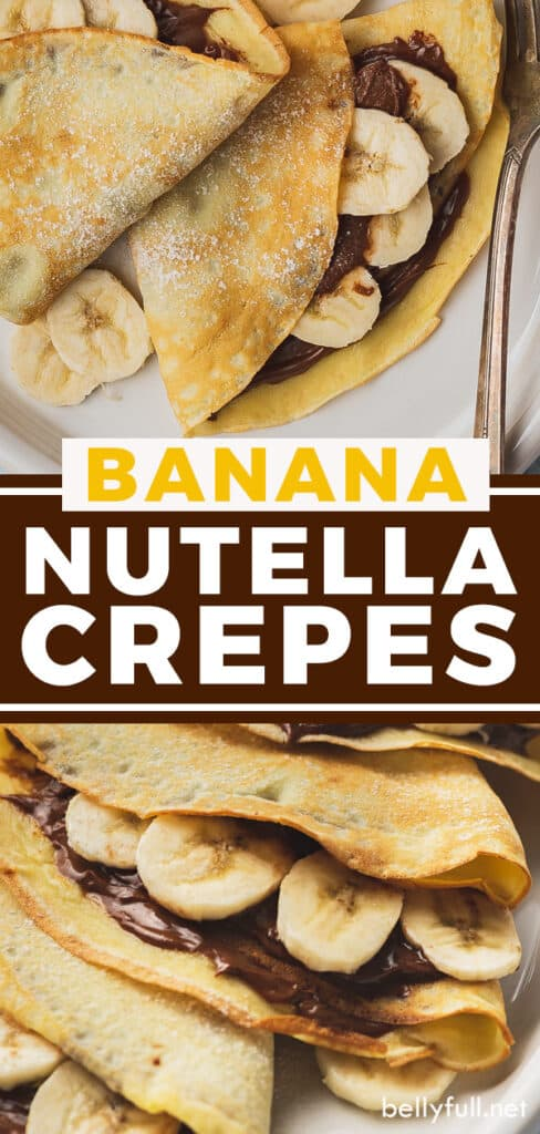 pin for banana nutella crepes recipe