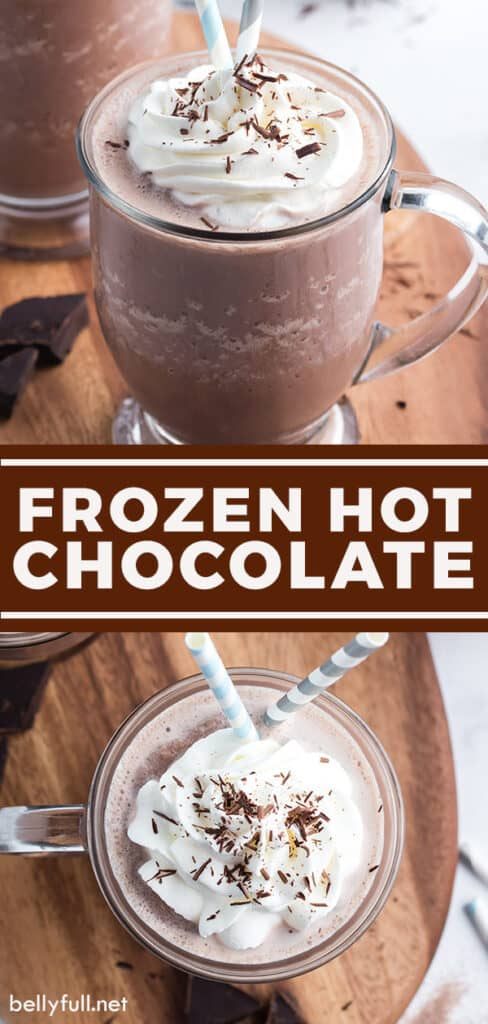 pin for frozen hot chocolate recipe