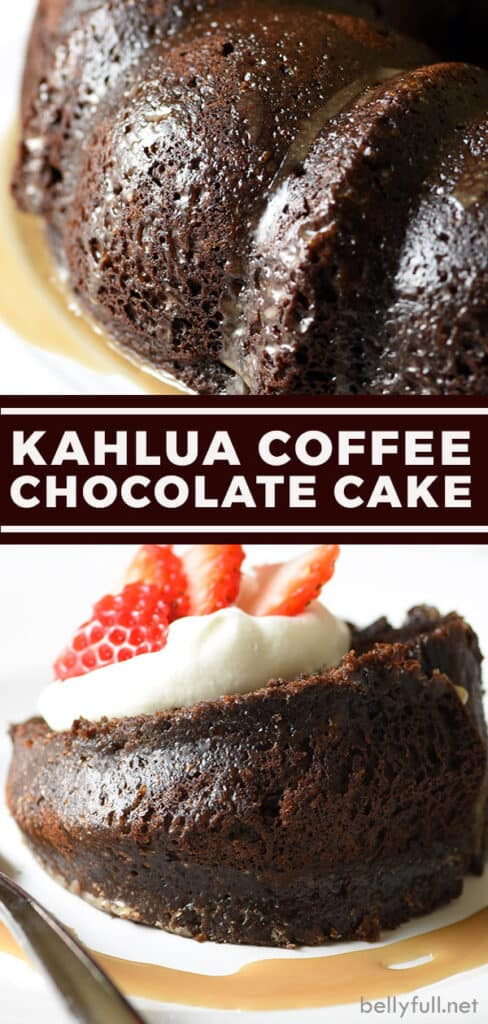pin for Kahlúa Coffee Chocolate Cake recipe