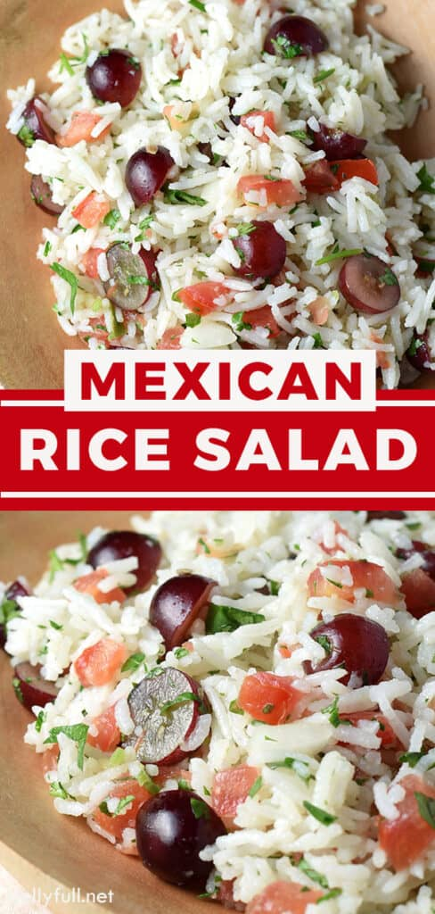 pin for Mexican Rice Salad recipe