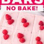 pin for raspberry cheesecake bars recipe