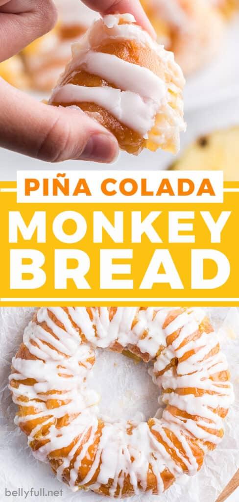 pin for pina colada monkey bread recipe