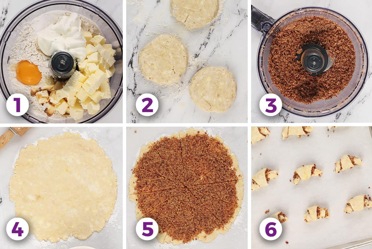 6 process shots to make Rugelach