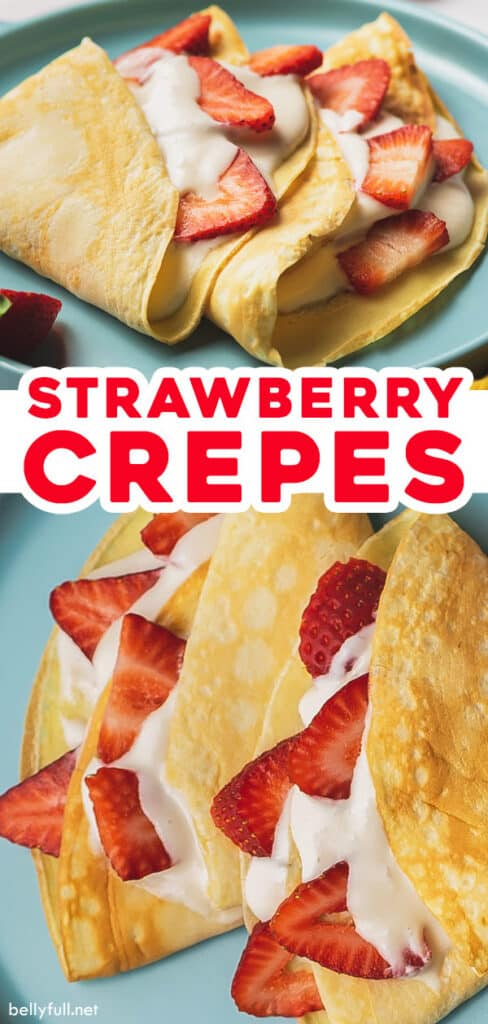 pin for strawberry crepes recipe