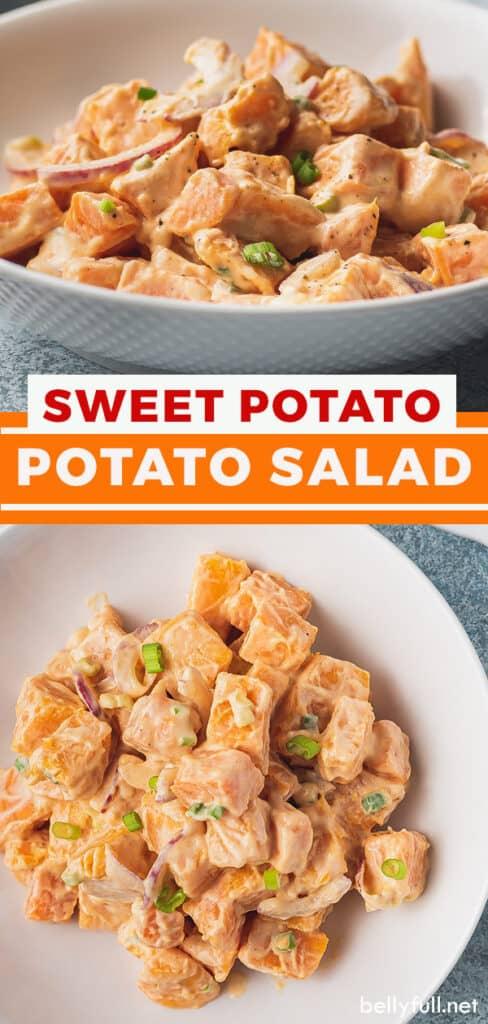 pin for sweet potato salad recipe