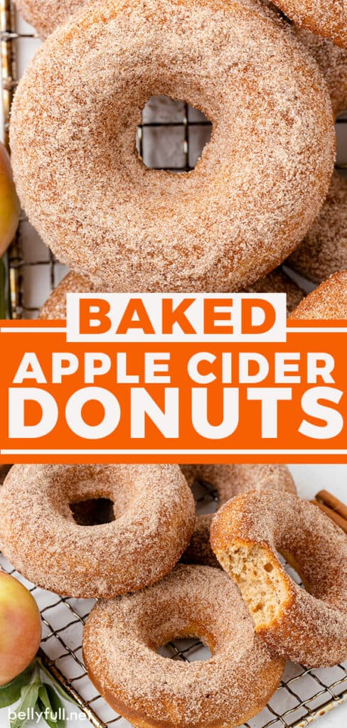 pin for baked apple cider donuts recipe