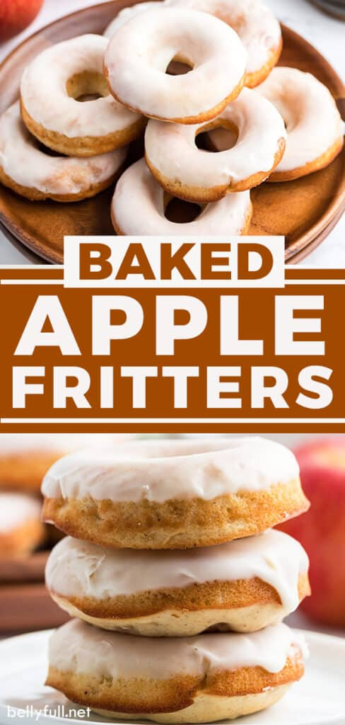 pin for baked apple fritters recipe