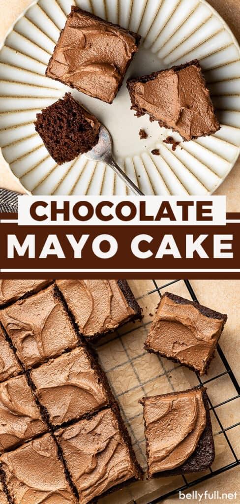 pin for chocolate mayonnaise cake recipe