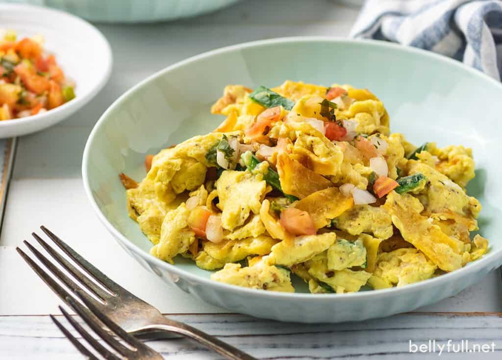 tex mex egg scramble in bowl