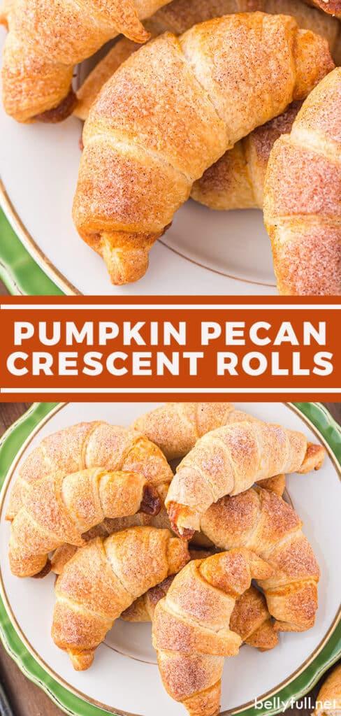 pin for pumpkin pecan crescent rolls recipe