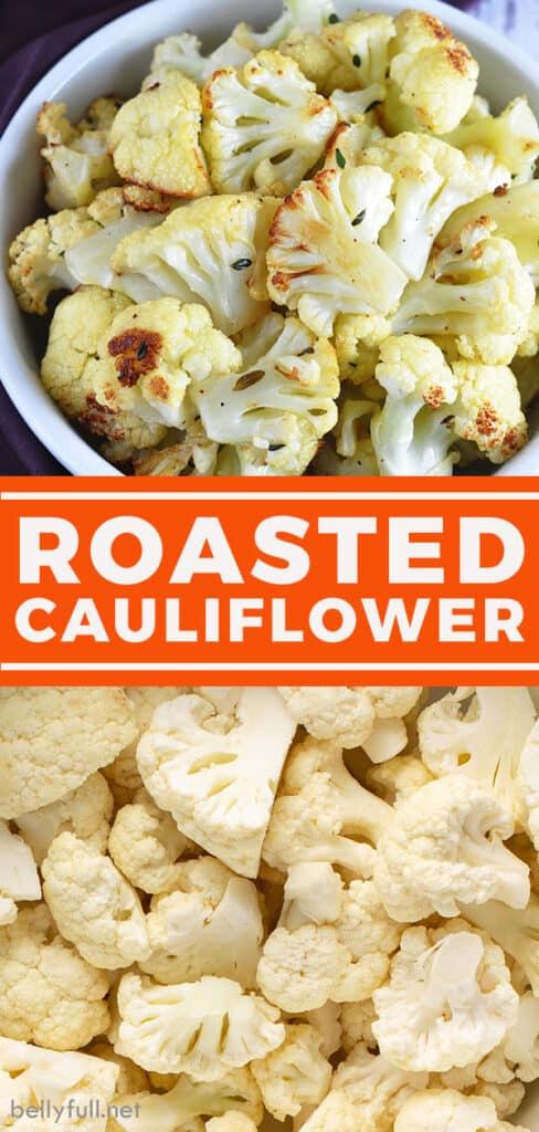 pin for roasted cauliflower recipe