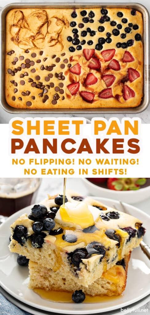 pin for sheet pan pancakes recipe