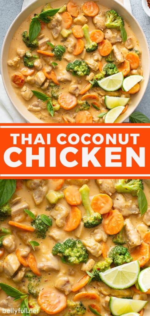 pin for Thai Coconut Chicken recipe