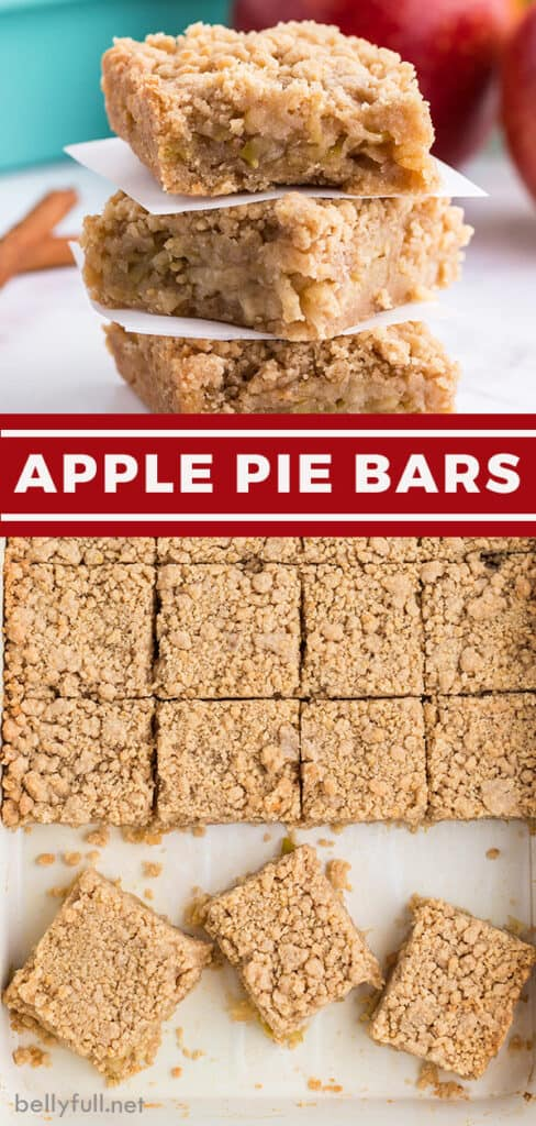 pin for apple pie bars recipe