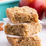 3 stacked apple pie bars