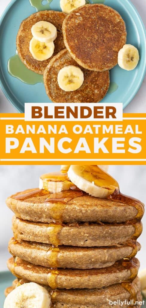 pin for banana oatmeal pancakes recipe