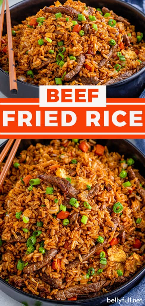 pin for beef fried rice recipe