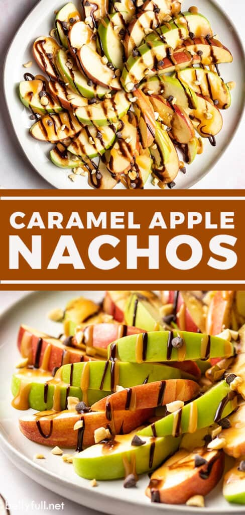 Two image pin for apple nachos recipe