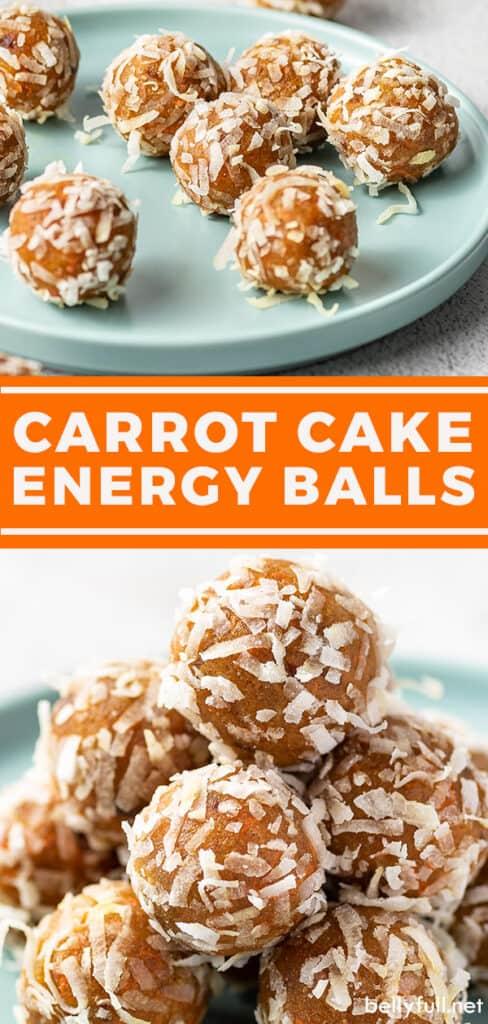 pin for carrot cake energy balls recipe