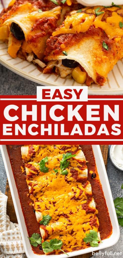 pin for chicken enchiladas recipe