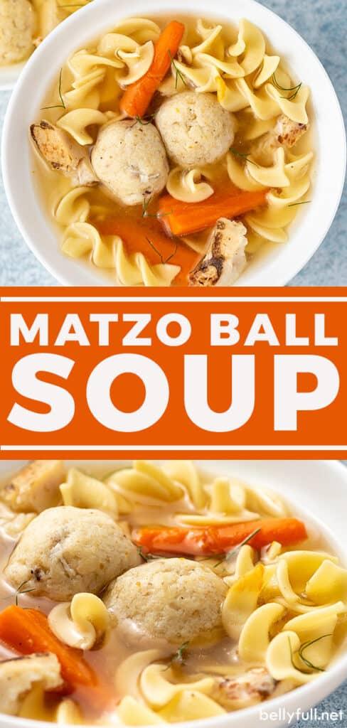 pin for matzo ball soup recipe